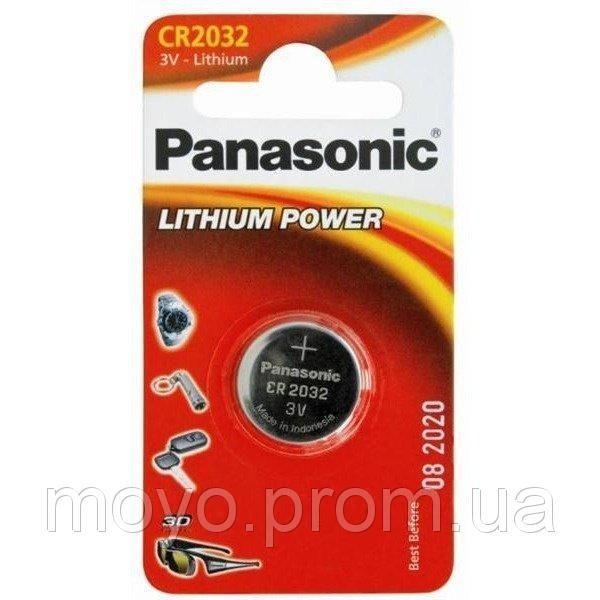 Батарейка Panasonic CR 2032 BLI 1 LITHIUM (CR-2032EL/1B), цена 39 грн., купить в Киеве — Prom.ua (ID#37624648). Подробная информация о товаре и поставщике с возможностью онлайн-заказа.