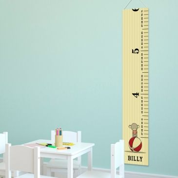 You know how much little boys love to measure and watch themselves grow. Our Circus Prince Height Chart will be the perfect addition to any boy's room. He will love constantly checking his height and over time he will understand what is happening as he sees his mark get higher and higher on his height chart board. #boy #growth #chart #height #heartdeeds