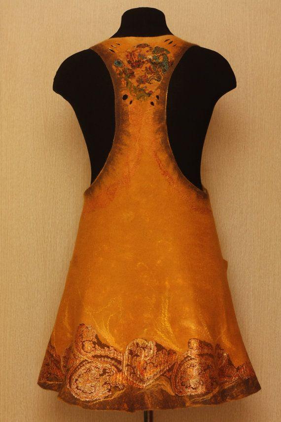Mackenna's Gold / Felted Clothing / Dress by LybaV on Etsy