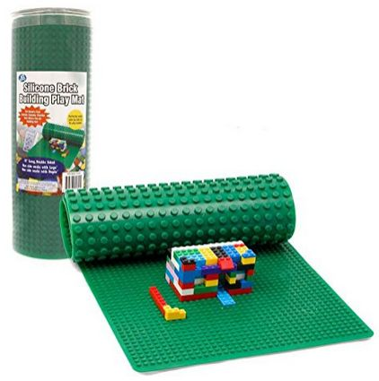 Rollable, Two Sided Silicone Brick Building Play Mat -Works with LEGO and Duplo! See item ---> http://www.discountqueens.com/rollable-two-sided-silicone-brick-building-play-mat-works-with-lego-and-duplo/
