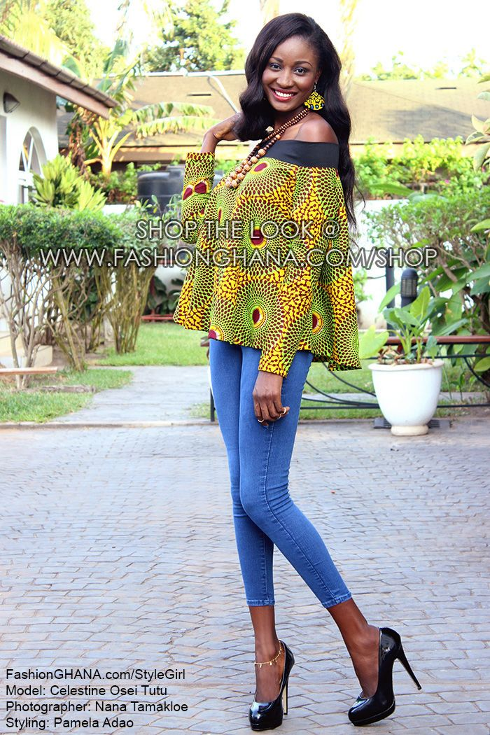 stylegirl let the wind blow off shoulder top with kente strip clutch bag. Black Bedroom Furniture Sets. Home Design Ideas