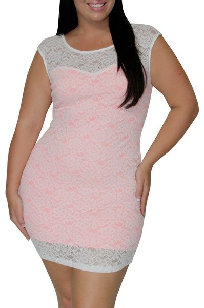 Awesome White Dresses For Plus Size Select (White/Pink)-Great Glam is the web's best sexy plus size online store... Check more at http://24store.tk/fashion/white-dresses-for-plus-size-select-whitepink-great-glam-is-the-webs-best-sexy-plus-size-online-store/