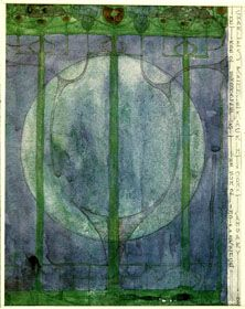 The Tree of Personal Effort, drawing by Charles Rennie Mackintosh, major contributor to Art Nouveau architecture and interior design