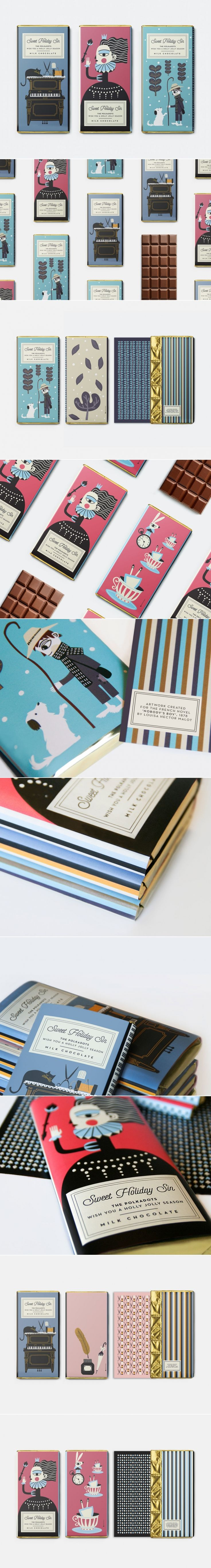 Check Out the Whimsical Illustrations For This Holiday Chocolate Packaging — The Dieline   Packaging & Branding Design & Innovation News