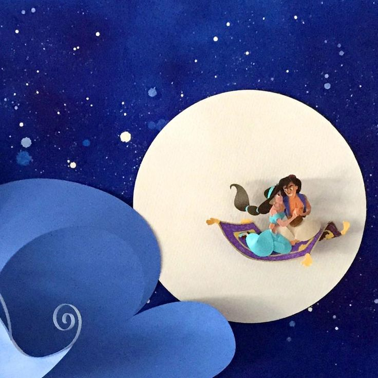 The amazingpaper art creations of the American artistJackie Huang, paying tribute tothe famous princesses and characters of Disney movies with some delica