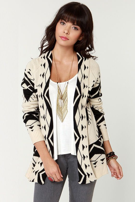 Cozy Neighbor Black and Ivory Sweater