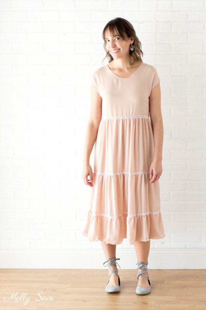 Tiered Blanc Sundress - Sew a Boho Dress | Sewing~women | Pinterest ...