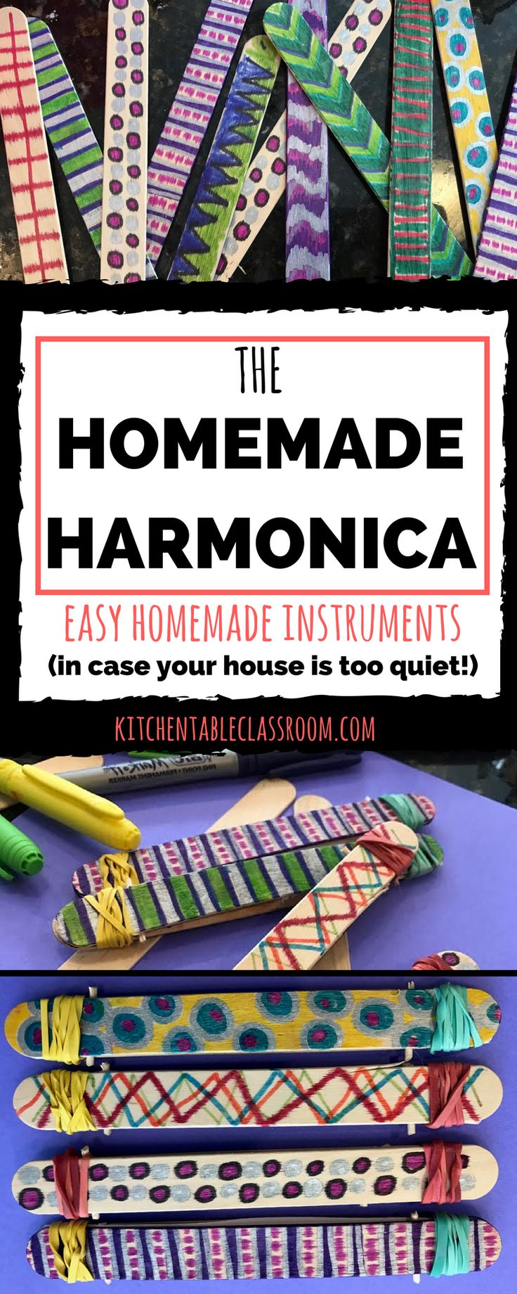 This homemade harmonica is a blast if you don't mind a little background noise. And if you do kick the kids and the harmonicas outside! They are a hoot!