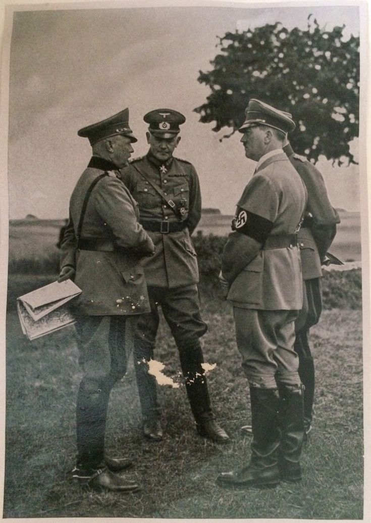 Adolf Hitler with senior German army officers