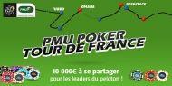 Du 29 juin au 21 juillet, les tournois du PMU Poker Tour de France sont de retour sur PMU.fr. Avec 10 000€ à se partager entre les leaders du peloton.  http://www.kalipoker-fr.com/bonus-et-promotions/pmu-poker-tour-de-france.html