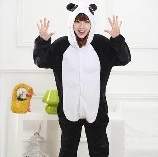 Panda Kigurumi, #cute #pajama | Use onesiesave10 #coupon for 10% off with free shipping