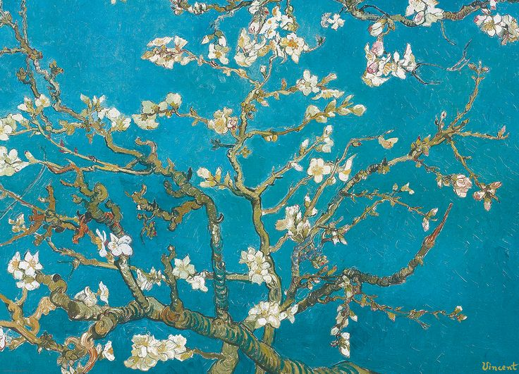 Almond Branches by Vincent Van Gogh 1000-Piece Puzzle. Almond Blossoms was a gift of Vincent Van Gogh to his brother Theo upon the birth of his son. He chose an almond tree, which blooms early and announces the coming of spring.