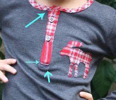 Aventuras de costuras: Tapeta cuello Polo, paso a paso. How to make a polo placket