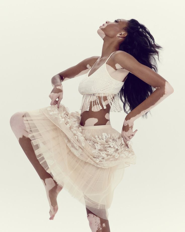 Chantelle Winnie is a model in demand. Her army of fans includes artists, designers and photographers. For spring/summer 2015, she is wearing broderie Anglaise – one of this season's key trend