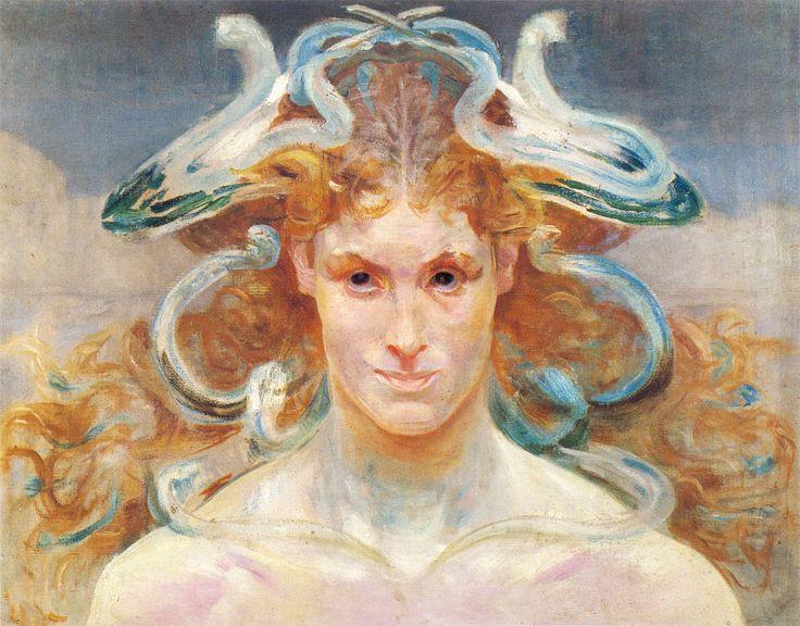 Jacek Malczewski (Polish 1854–1929) [Young Poland (Mloda Polska), Symbolism] Meduza 1.