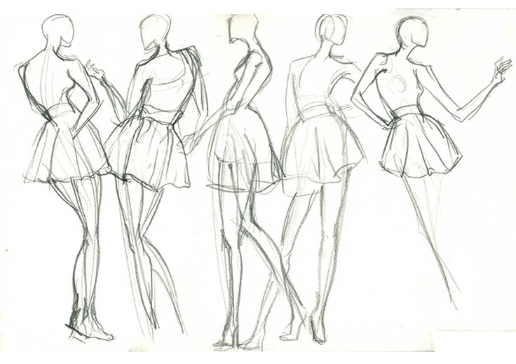 Live model drawing 5mins