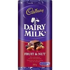 Cadbury Fruit & Nut: Nut Bar, Candy Bar, Cadbury Fruit
