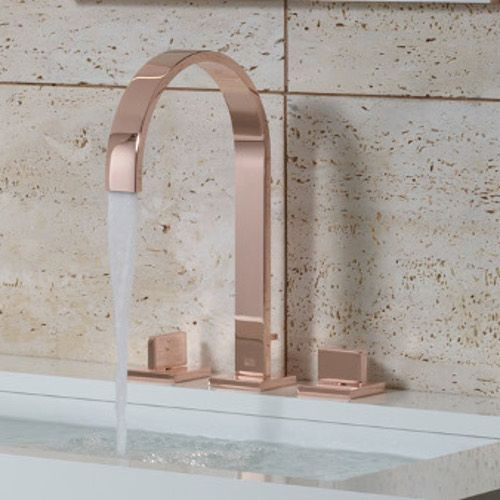 Add a metallic element to your bathroom, such as this rose cold tap, to add a modern and stylish touch to your bathroom.