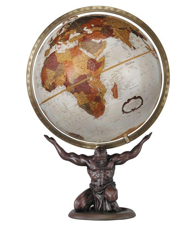 59 best desktop globes images on pinterest world globes desk replogle atlas desktop world globe with bronze resin base full meridian and 12 gumiabroncs Images