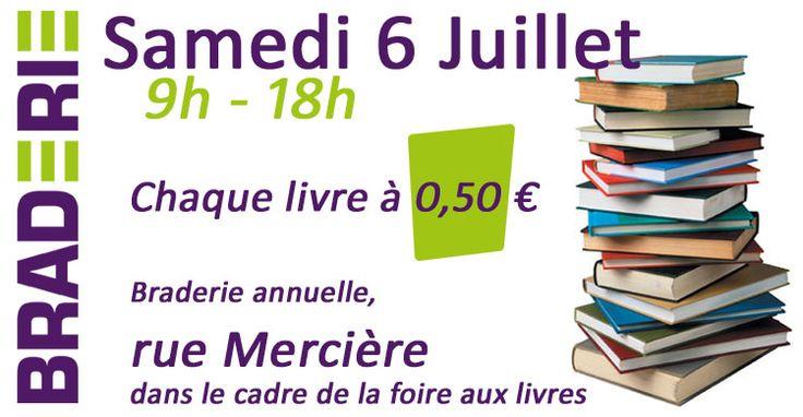 Braderie de livres 2013 à Saint Claude. Le samedi 6 juillet 2013 à Saint Claude.  09H00  (Jura)