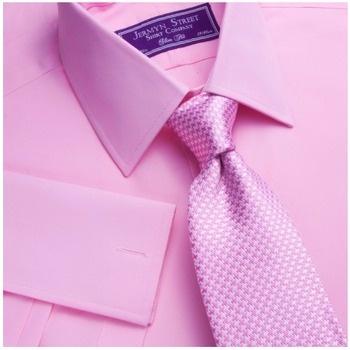 Jermyn Street Shirt Company Tewksbury pink poplin classic fit shirt. Sale $59.95