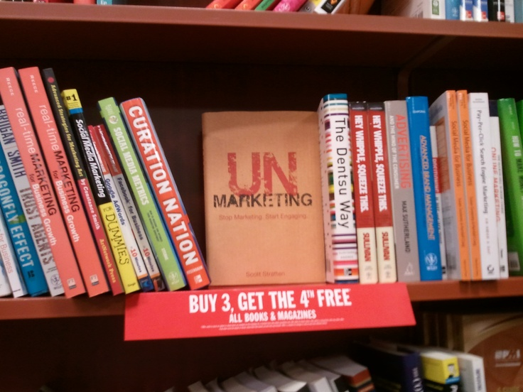 Scott Stratten's Book on the shelf at Chapters