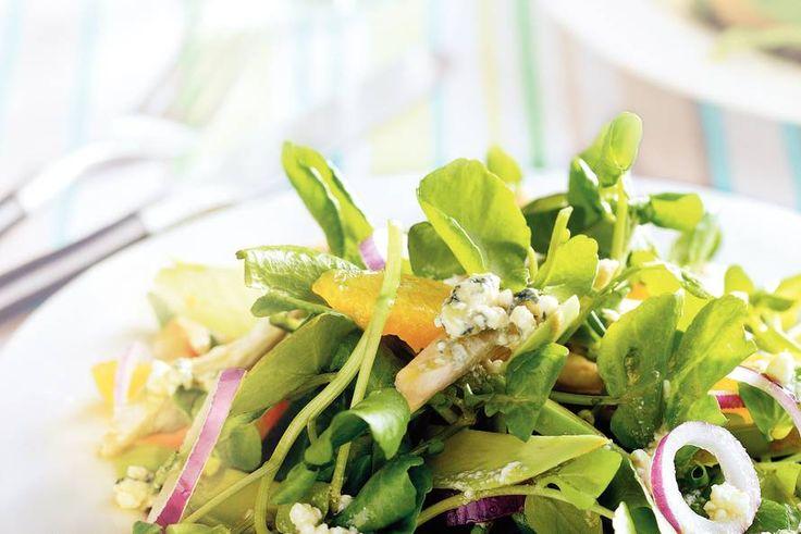 Kijk wat een lekker recept ik heb gevonden op Allerhande! Waterkerssalade met…
