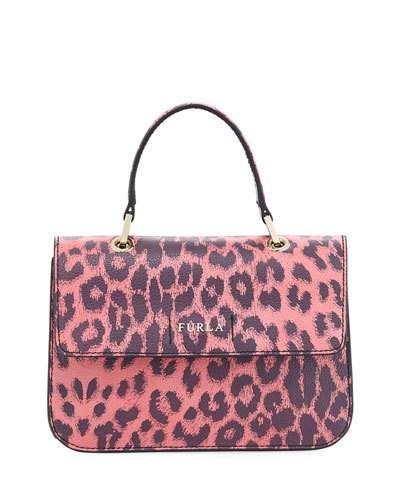 Ottavia Small Leopard Top Handle Bag