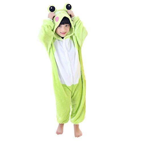 Oferta: 36.99€ Dto: -24%. Comprar Ofertas de Happy cherry - Pijama Ropa de dormir Disfraz de Animal Rana de Franela para Niños niñas - Verde - Talla 115 barato. ¡Mira las ofertas!