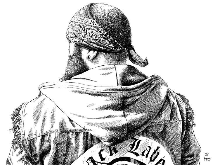ILLU BIKER HELLFEST : Art numérique par la-pure-fucking-boutik