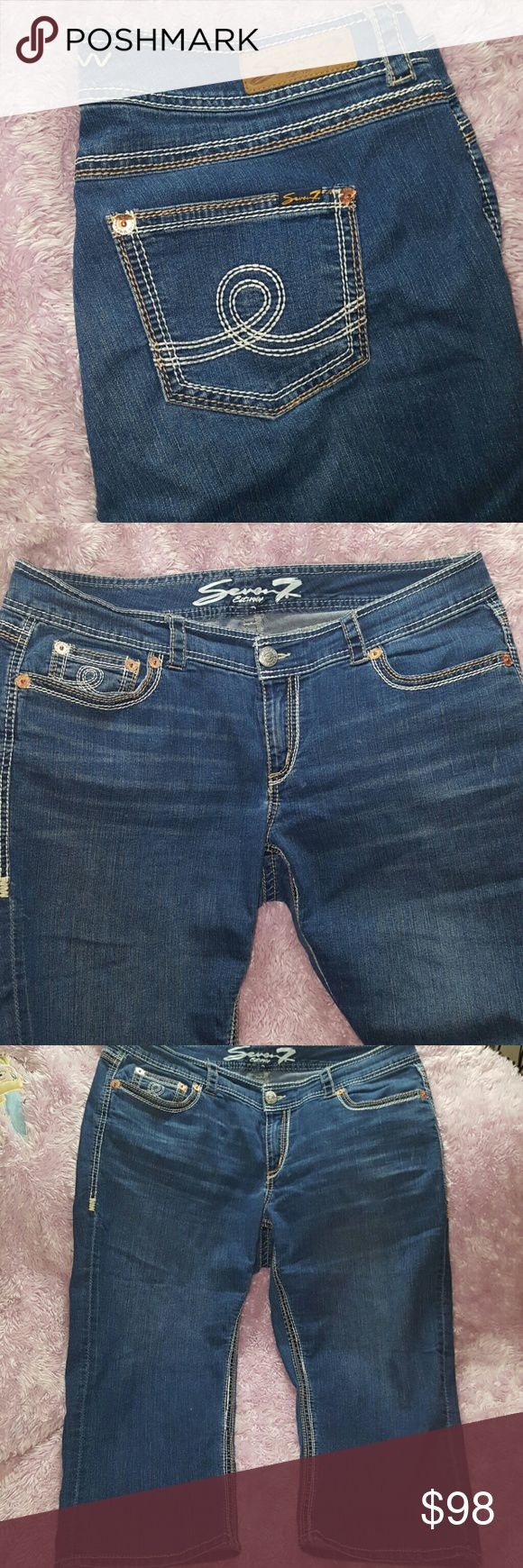 SEVEN7 LUXE CAPRI Jeans ~ New w/o Tags SEVEN7 LUXE CAPRI Jeans ~ New w/o Tags ~ Size 20 81% cotton 17% polyester 2% spandex. AMAZING HIGH QUALITY CAPRIS!! I ship daily (#A1) Seven7 Jeans Ankle & Cropped