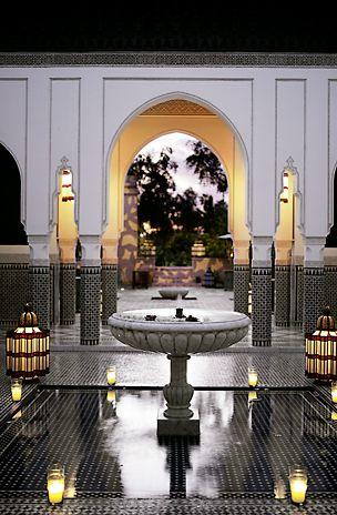 Séjour au Maroc, hôtel de luxe, hôtel La Mamounia à Marrakech, Maroc