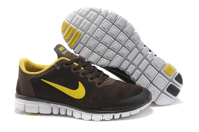 TTotir2028 Nike Free Run 3.0 Femmes Suede Shoes Brown vert, nike free run 3 avis