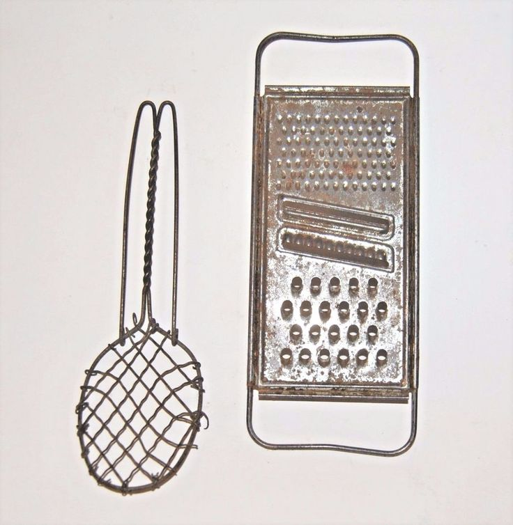 Vintage / Antique Wire Whisk & Grater - Primitive, Rustic, Farmhouse, Country