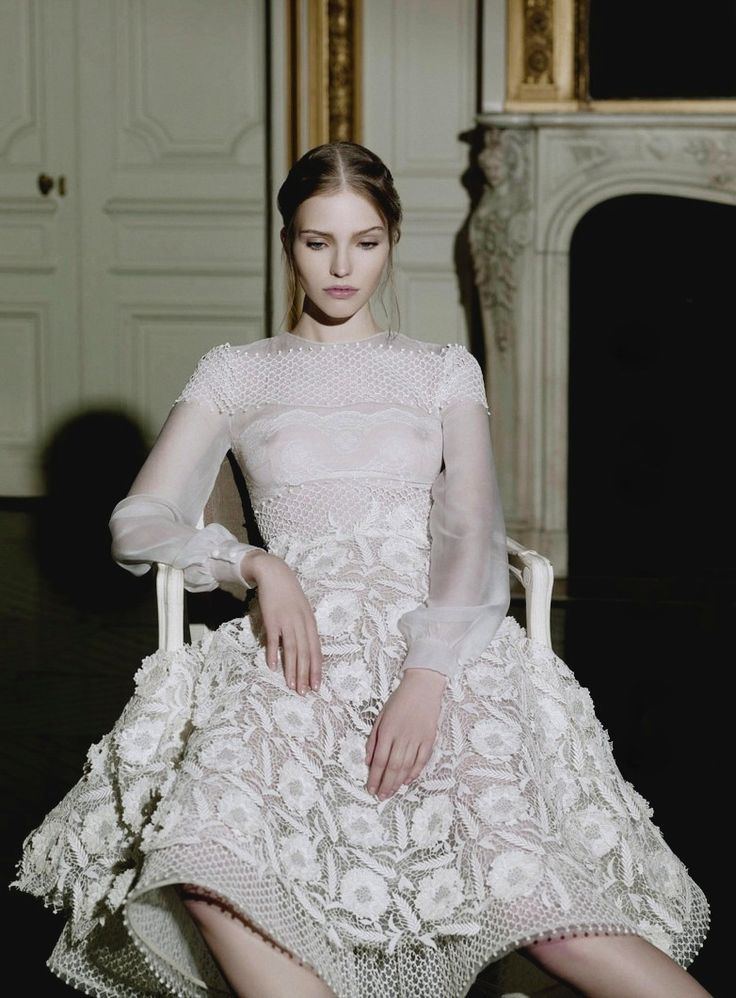sasha luss wearing this season's valentino couture for Vogue Italia. photos by gian paolo barbieri...