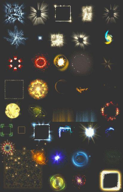 游戏特效 场景 图标 装备 ui 光效 素材 png UI特效-淘宝网