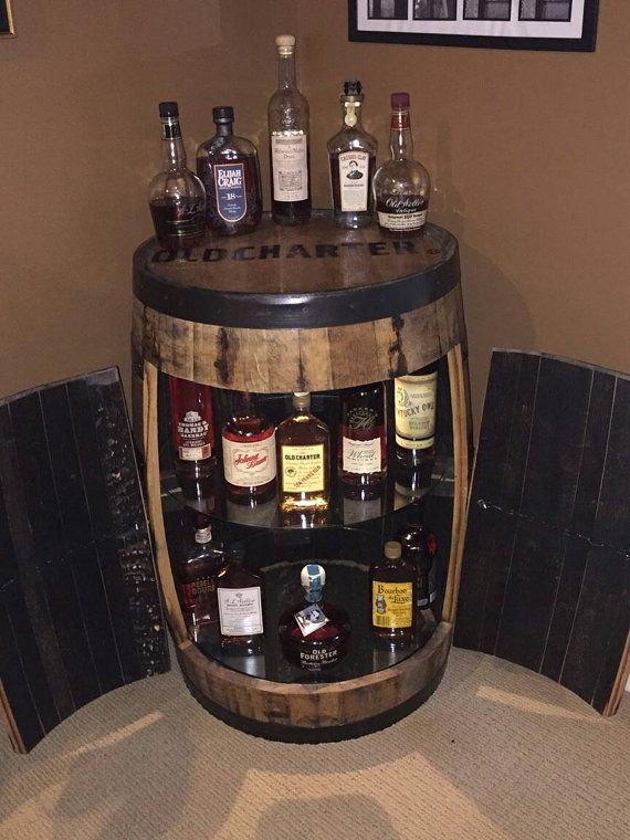 Bourbon Barrel Cabinet With Double Doors Projects To Try