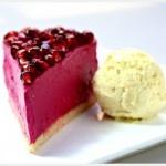 pomegranate cheesecake Raw