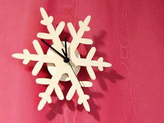 A snowflake clock, ARKHEEN, http://www.arkhe.fi , Photographer Taina Tervonen