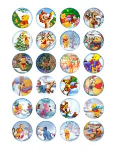 Free printable bottle cap images Winnie the Pooh 1.5 inch