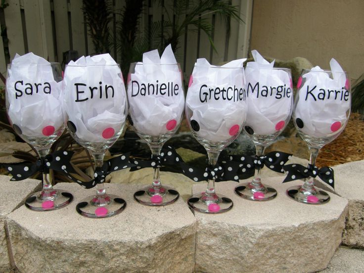 DIY Bridesmaids Gifts! Except not pink! Maybe something for the groom mens along the same lines so its a theme.