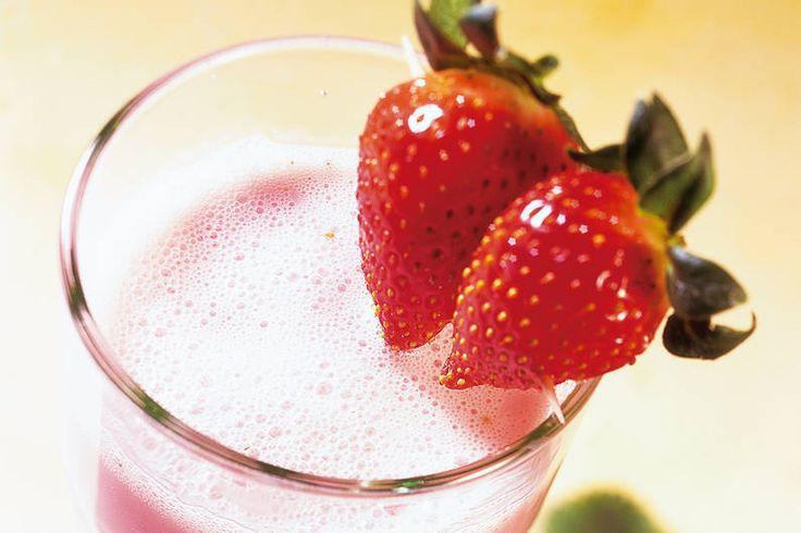 Erdbeer-Shake mit Honig