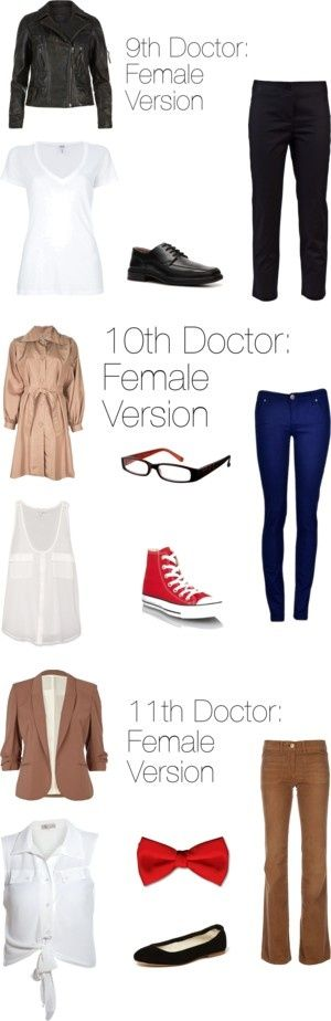 Doctors 9-11: Female Editions by ketchupoutabottle on Polyvore so adorable