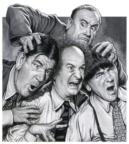 Drew Friedman fine art print of The Three Stooges