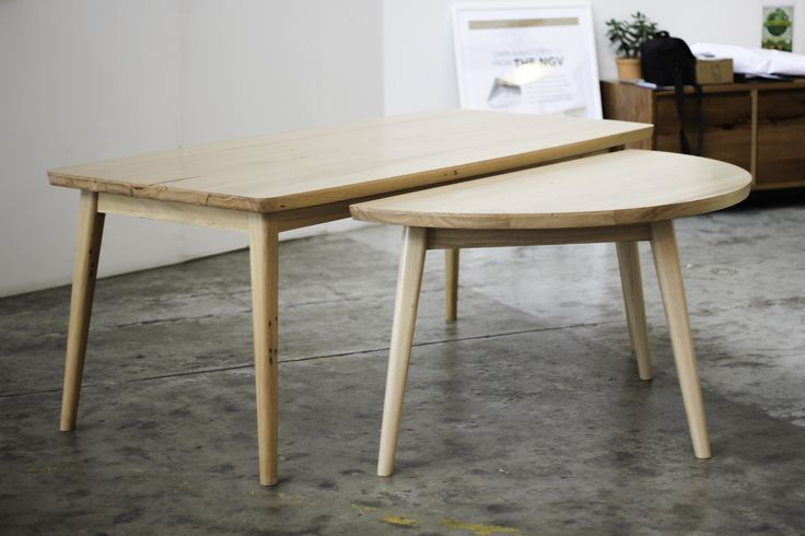 Custom 7 Legged Table made from recycled Mountain Ash timber YARD Furniture, Mekbourne Australia