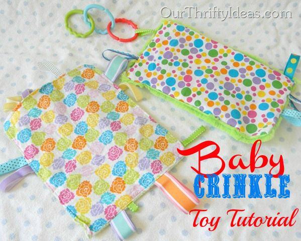 Crinkle Toy Tutorial from Our Thrifty Ideas | Our Best ...