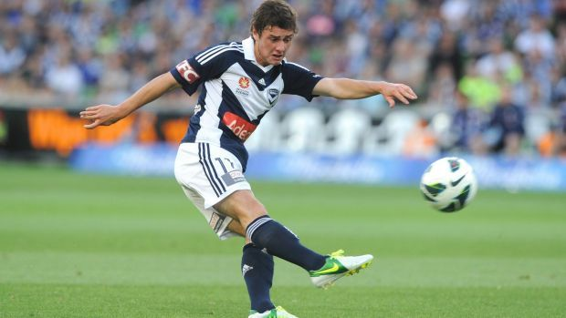 Marco Rojas in action for Melbourne Victory in 2013.