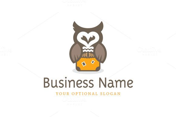 For sale. Only $29 - animal, suitcase, travel, education, trip, school, bird, owl, night, wing, guide, vision, change, dream, illusion, journey, wisdom, wise, discover, intuition, vacation, logo, design, template,