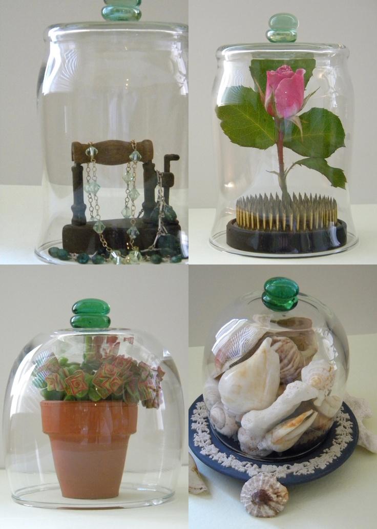 Crafts diy cloches use candle jars or hurricanes ikea pomp 11 stem less wine - Stemmed mason jars ...