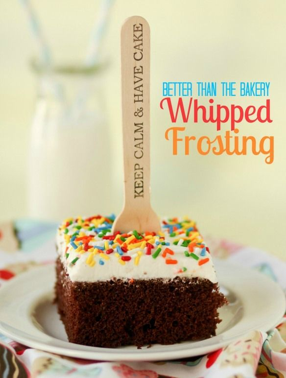 Better Than the Bakery Whipped Frosting -- finally the PERFECT whipped frosting recipe.  Not greasy, no funky ingredients, and half the sugar of regular buttercream.
